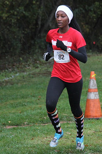 Michaela Williams runs in the Big South Cross Country Championship