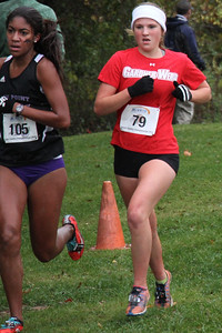 Jenna Ford runs in the Big South Cross Country Championship