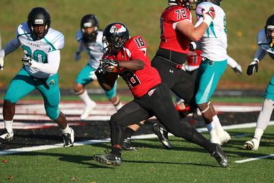 GWU football put up a tough fight against Costal Carolina Saturday afternoon at Spangler Stadium.