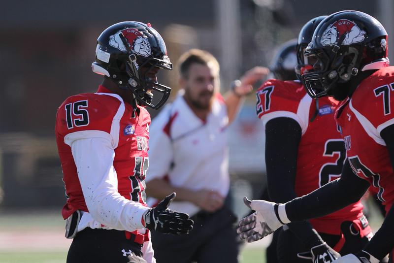 Gardner-Webb Runnin' Bulldogs suffer a tough loss against Presbyterian College on Saturday, Nov 15, 2014.