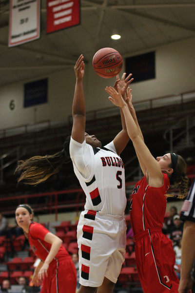 GWU's women's basketball team gives a hard fight against Davidson for a one point difference loss. Final score 67-68