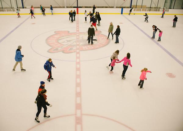 JOED VIERA/STAFF PHOTOGRAPHER-Lockport, NY-Families skate at Cornerstone Arena. Saturday, November, 29, 2014.