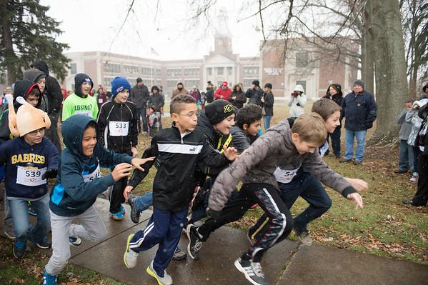 JOED VIERA/STAFF PHOTOGRAPHER-Lockport, NY-Emmett Belknap Students participate in the Turkey Trot. Wednesday, November, 26, 2014.
