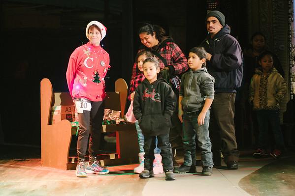 JOED VIERA/STAFF PHOTOGRAPHER-Lockport, NY-Kids and their parents wait to meet Santa at the Palace Theater. Saturday, November, 29, 2014.