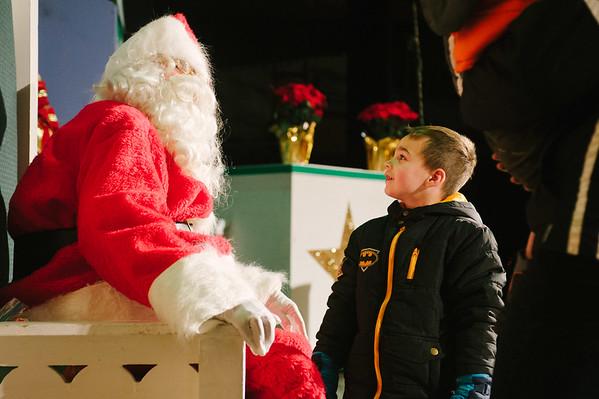 JOED VIERA/STAFF PHOTOGRAPHER-Lockport, NY-Joey Prenatt 3 asked Santa for a merry Christmas at the Palace Theater. Saturday, November, 29, 2014.