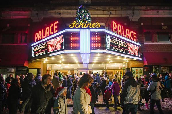 JOED VIERA/STAFF PHOTOGRAPHER-Lockport, NY-The scene at the Palace Theatre after the Christmas Parade. Saturday, November, 29, 2014.