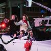 JOED VIERA/STAFF PHOTOGRAPHER-Lockport, NY-Mayor Anne McCafferey greets the crowd during the Christmas Parade. Saturday, November, 29, 2014.