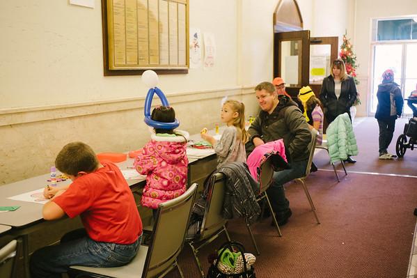JOED VIERA/STAFF PHOTOGRAPHER-Lockport, NY-Kids enjoy activities at Ticklebridge Co-op. Saturday, November, 29, 2014.