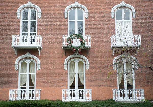 JOED VIERA/STAFF PHOTOGRAPHER-Lockport, NY-The Kenan House has its first holiday decoration on display. Tuesday, November, 4 2014.