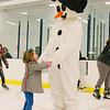 JOED VIERA/STAFF PHOTOGRAPHER-Lockport, NY-Jenna Achtyl 3 skates with Frosty the Snowman at Cornerstone Arena. Saturday, November, 29, 2014.