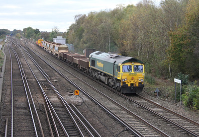 66550 Worting Junction 26/10/14 6C07 Worting Junction to Eastleigh D.C.S.