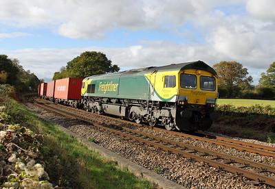 66504 Oakley 25/10/14 4M61 Southampton to Hams Hall