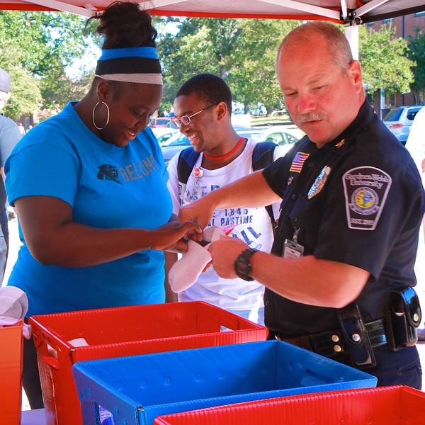 60 Seconds of Service in front of the Dover Campus Center.