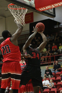 GWU's Mens and Women's basketball participated in an intra-squad scrimmage Monday night in the Paul Porter Arena.