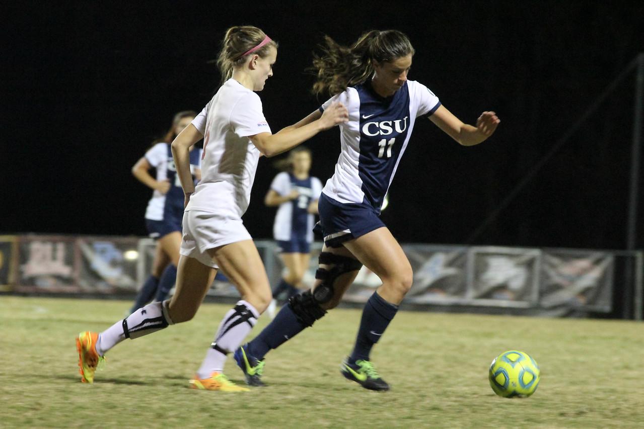 GWU women's soccer defeats Charleston Southern Saturday night 2-1.