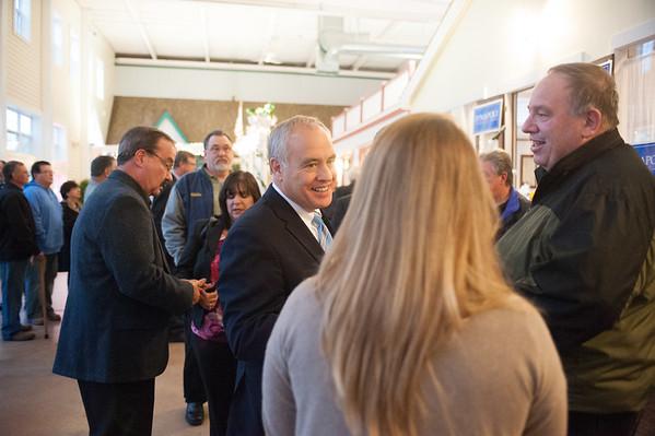 JOED VIERA/STAFF PHOTOGRAPHER-Lockport, NY-Tom DiNapoli David chanin and Christine Wirth with the Lockport community center <br />  Monday, October, 20 2014.