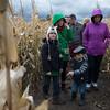 JOED VIERA/STAFF PHOTOGRAPHER-Lockport, NY-A group navigates their way through a tricky corn maze. Saturday, October, 18 2014.