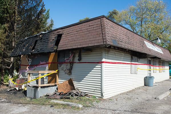 JOED VIERA/STAFF PHOTOGRAPHER-Royalton, NY-The charred remains of Boyer's Tavern. Thursday, October, 9, 2014.
