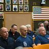 JOED VIERA/STAFF PHOTOGRAPHER-Lockport, NY-Lockport Firefighters John Millett, Joseph Morello and Joe Prica listen at the common council meeting. Wednesday, October, 8, 2014.