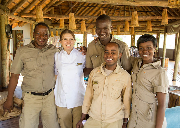 Warm smiles from some of the staff at Xigera Camp in Botswana a wonderful group of people who make the trip even more unforgettable.