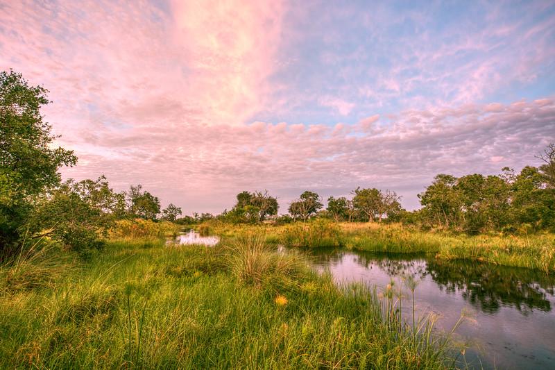 Sunrise Over the Okavango - Xigera Camp