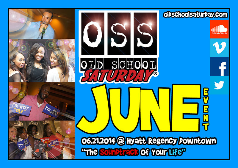 "June 21st at The Hyatt Regency DOWNTOWN.  Tickets, VIP, Birthdays, and more:   <a href=""http://www.oldschoolsaturday.com"">http://www.oldschoolsaturday.com</a>  ::: @OldSchoolSAt  #OSSexperience #OSSevents #All80s #All90s"