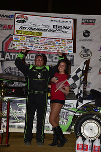 Jason Feger in Victory Lane @ Paducah International Raceway