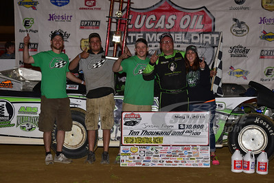 Jason Feger and crew in Victory Lane @ Paducah International Raceway