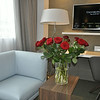 We stayed at the Pullman Eiffel Tower and it was really nice.  Andy had the hotel leave a dozen roses in the room for me.  :)