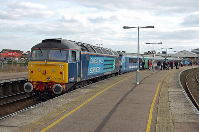 47805 'John Scott' is pictured again at Great Yarmouth with the 2C23 1512 return to Norwich, which is one of the few trains routed via Berney Arms (17/03/2014)