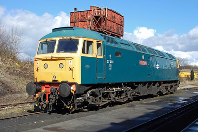 An hour or so later 47401 is seen on shed at Swanwick Junction after changing places with the steam loco once more. Having apparently suffered some post-WInter blues the previous day, the veteran then went on to complete the day's final round trip without incident (23/03/2014)