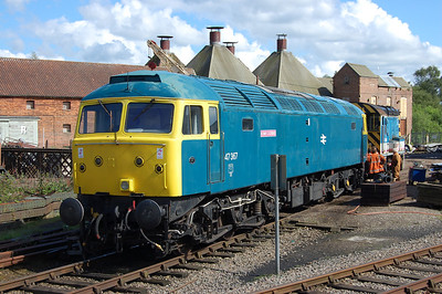 47367 is pictured in the yard at Dereham just a couple of days after arriving at its new home from the North Norfolk Railway (24/05/2014)