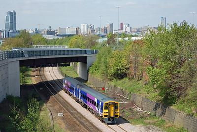 Following closely behind was 158872 with 1Y37 1305 Leeds - Nottingham. The vantage point I've previously used here is about to be lost to the undergrowth, but this alternative view works quite well for a short-formation train (03/05/2014)