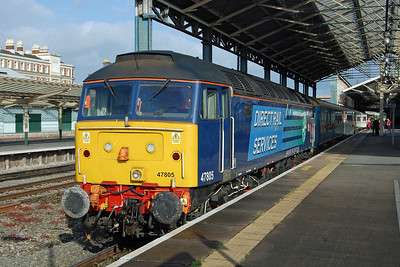47805 'John Scott' calls at Chester with Pathfinder Tours' 1Z53 0520 Hereford to Scarborough charter (10/05/2014)