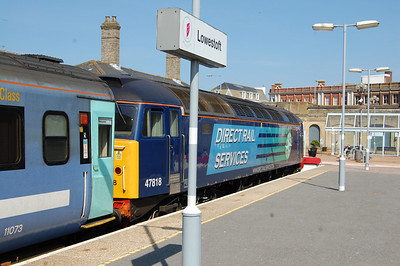 47818 is pictured on the blocks at Lowestoft after arriving with 2J80 1455 ex-Norwich (30/05/2014)