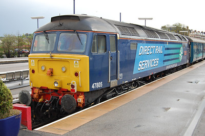 A close-up of 47805 on the rear of 1Z54 prior to the train departing from Scarborough (10/05/2014)