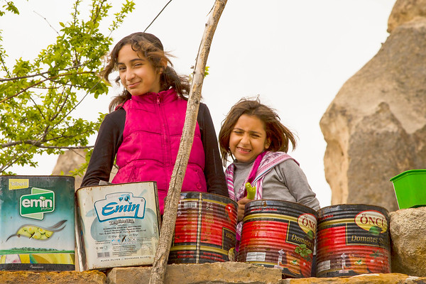 Girls with Planters - Goreme, Turkey