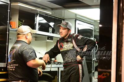 Brian Birkhofer talks with crew chief - Zach Frields
