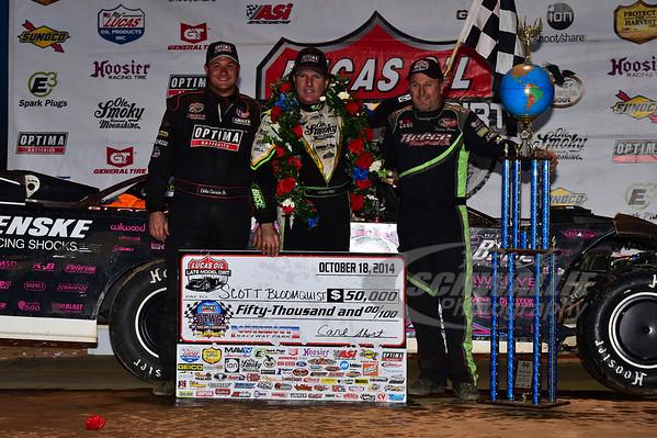 Eddie Carrier, Jr., Scott Bloomquist and Jimmy Owens