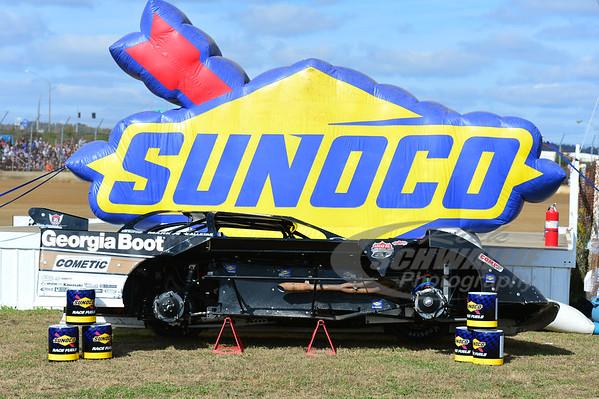 Steve Francis' car on display for the Sunoco Cut-A-Way Car