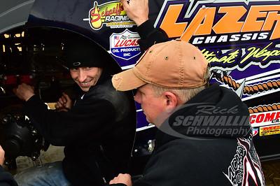 Davey Johnson talks with crew chief - Austin Hargrove
