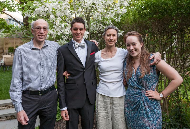 Richard, Benjamin, Chantal, and Isabel
