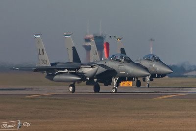 F-15E Strike Eagle, 91-0303, 492nd FS gets ready to depart