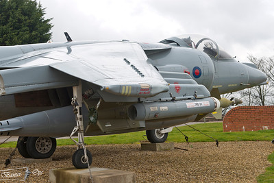 Harrier GR.7A ZD469 Royal Air Force RAF Wittering Gate Guard