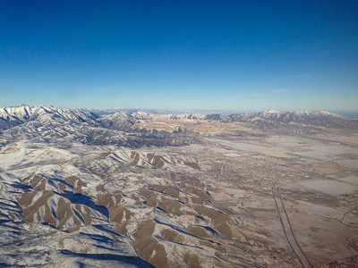 Over Utah, looking towards Kennecott Copper Mine
