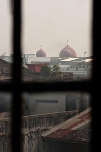 Medan, Sumatra, Indonesia. Through a hostel window.