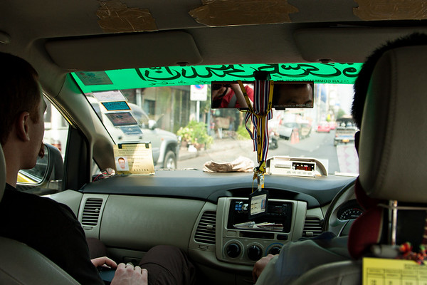Every good Asian adventure begins with a taxi ride. Bangkok, as the journey began.