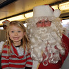 Riding the Santa Train with the kids.