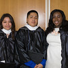 Angie Rosas, Carlos Luis, and Bianca Sylvain were among the 618 students to graduate during Mount Saint Mary College's 51st Commencement Exercises in Newburgh, NY on Saturday, May 17, 2014. Hudson Valley Press/CHUCK STEWART, JR.