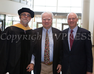 Robert R. Dyson (right) received Doctor of Laws, honoris causa, during Mount Saint Mary College's 51st Commencement Exercises in Newburgh, NY on Saturday, May 17, 2014. Hudson Valley Press/CHUCK STEWART, JR.